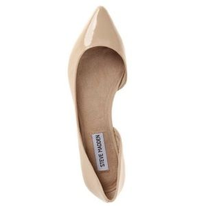 63256f3c36c Steve Madden Patent Leather Nude Elusion Flats NWT